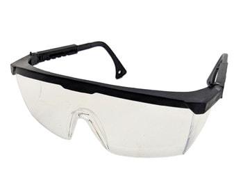 Очки защитные, с регулируемой дужкой (белые)
