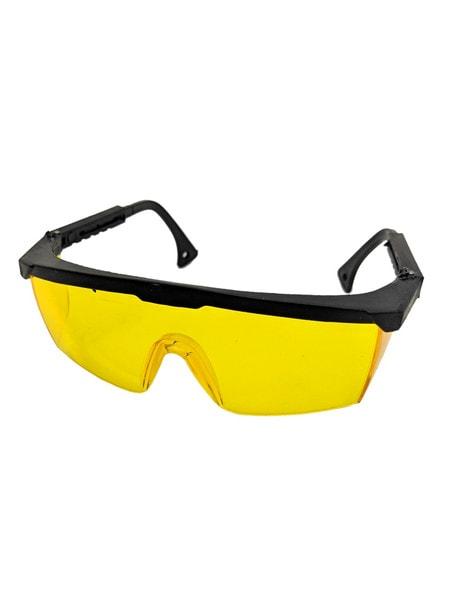 Очки защитные, с регулируемой дужкой (желтые)