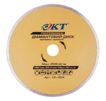 Диск алмазный КТ PROFI 180 мм Керамика
