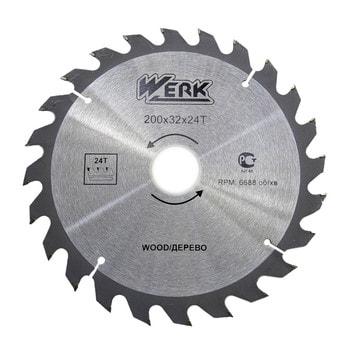 Диск по дереву Werk 200 мм 24 зуба