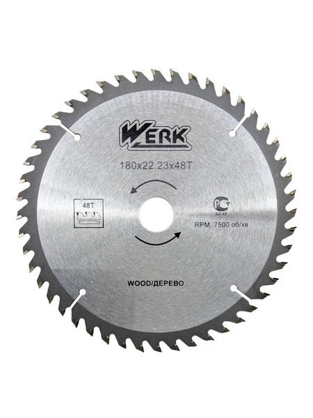 Диск по дереву Werk 180 мм 48 зубов