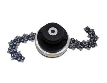 Косильная головка алюминиевая для  мотокосы, с цепью