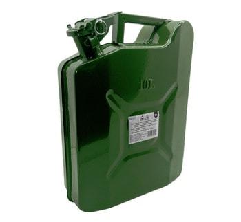 Канистра металлическая зеленая 10 литров