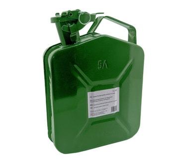 Канистра металлическая зеленая 5 литров
